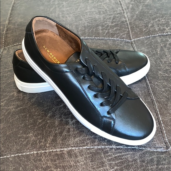 Black Kurt Leather Sneakers From New